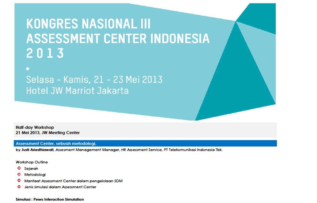Bina potensia indonesia assessment center 2013 ccuart Gallery